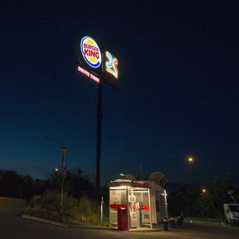 burgerking skyltar skyltkoncept