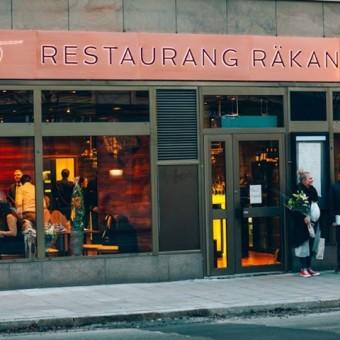 skyltar skyltkoncept restaurang räkan